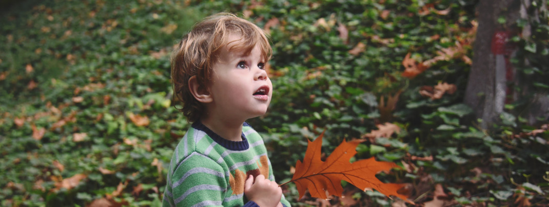 Boy with Leaf